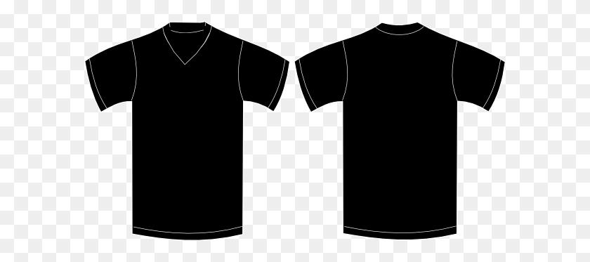 V Neck Black Tshirt Clip Art - Black T Shirt Clipart