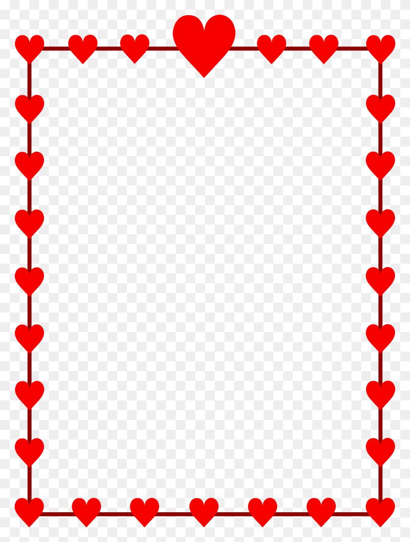 5952x8014 Valentine Border Clip Art Free - Valentines Images Clip Art