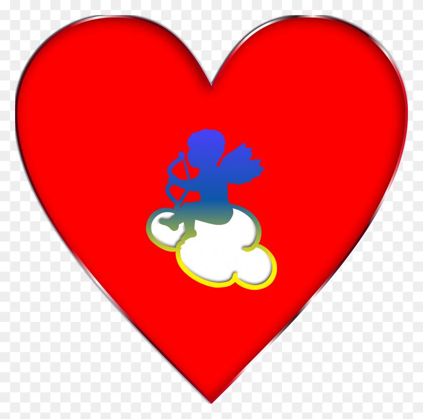 2400x2379 Valentine Day Cloud Heart With Arrow Transparent Png Clip Art - Arrow Heart Clipart