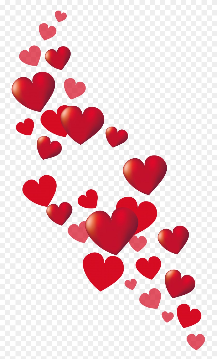 Valentine Hearts Decor Png Clipart - Valentine Heart PNG
