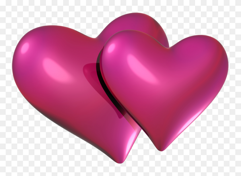 Valentine Pink Hearts Png - Valentine Heart PNG