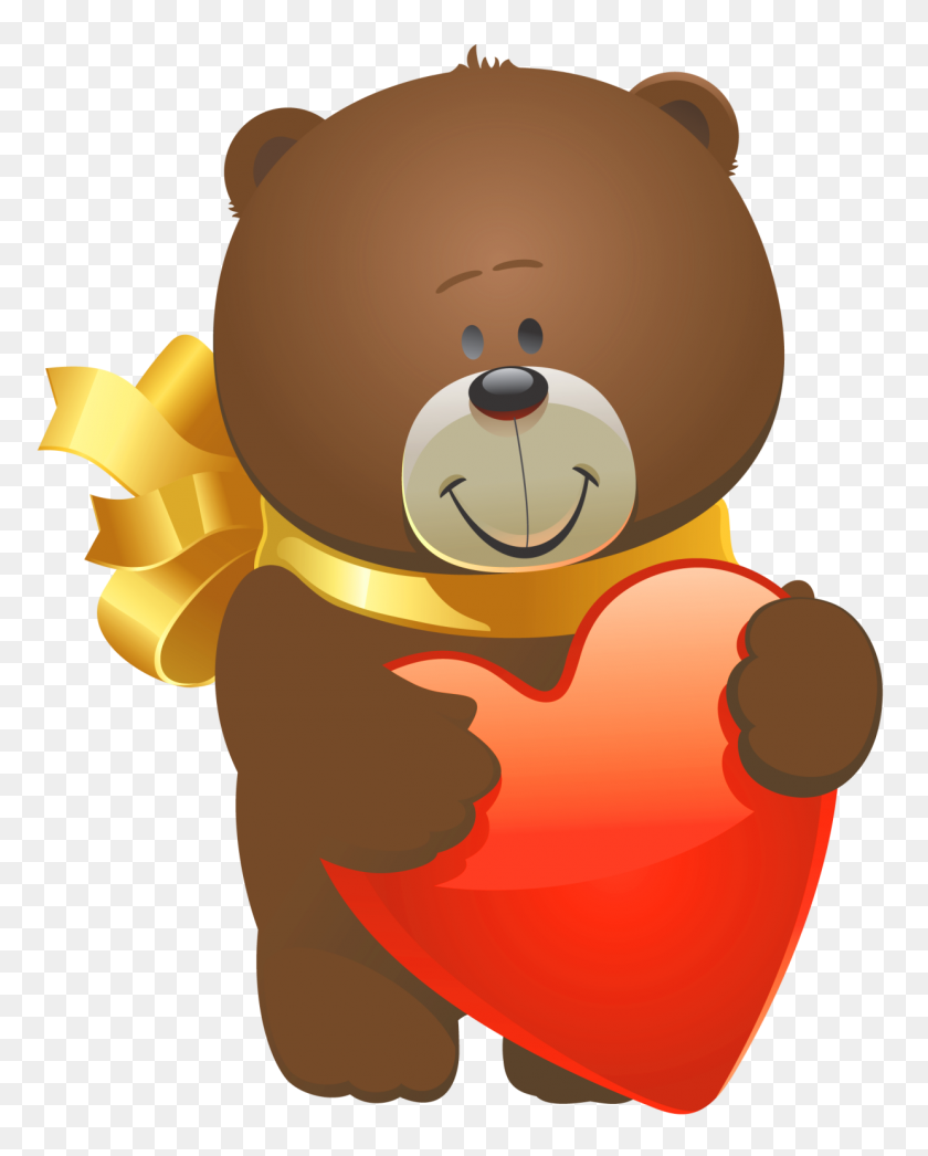 Valentine Teddy Bear Png - Teddy Bear Clipart PNG