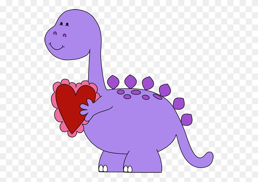 Valentine's Day Clip Art - Cute Dinosaur Clipart