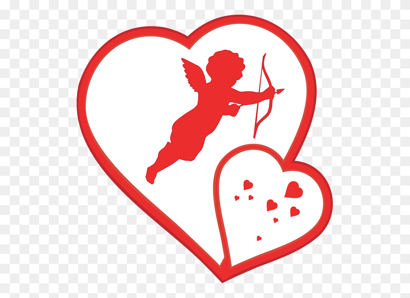 Valentines Day Clip Art Cupidcupid Clip Art For Valentine S Day - Hearts And Flowers Clipart