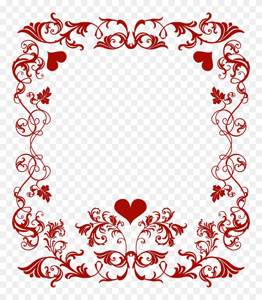 Valentine's Day Decorative Border Transparent Png Clip Art Image - Valentine Border Clip Art