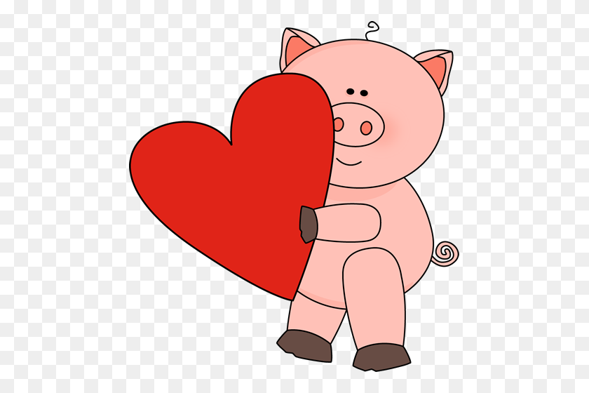 Valentine's Day Pig Clip Art - Pig Image Clipart