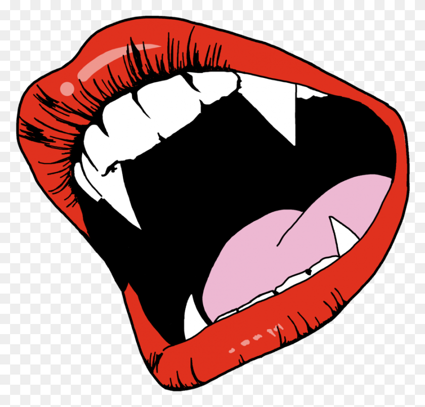 Vampire Fangs - Pop Art PNG