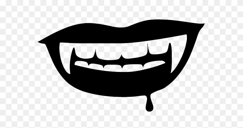 Vampire Teeth Png Download Image Vector, Clipart - Vampire Fangs Clipart