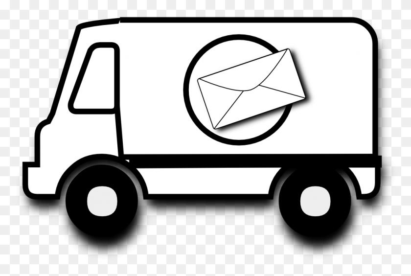 999x646 Van Car Mail Truck Clip Art - Free Dump Truck Clipart