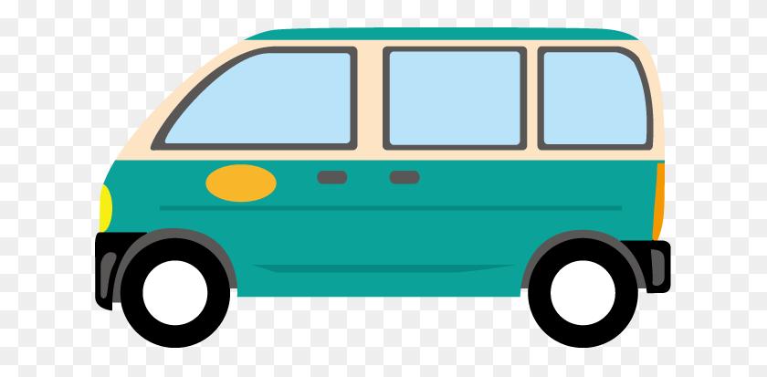 Van Clipart Png, Retro Glossy Van - Delivery Van Clipart