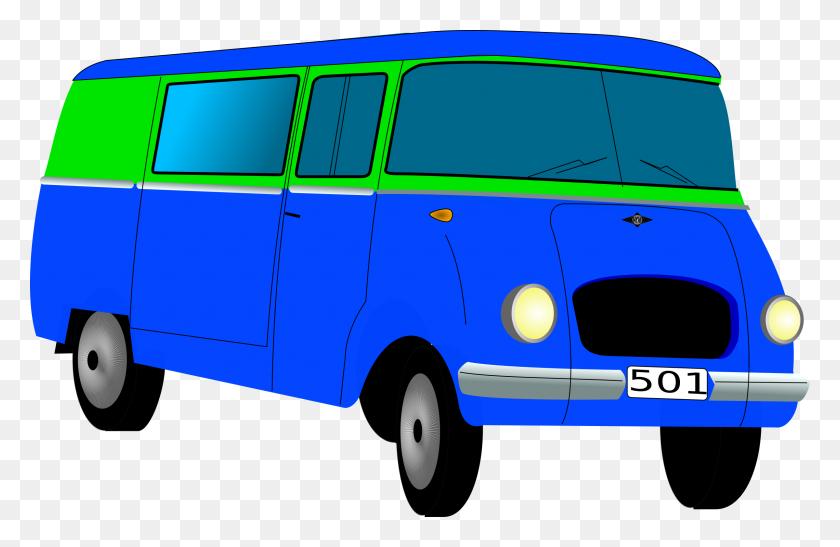Van Clipart Png, Retro Glossy Van - Hippie Van Clipart