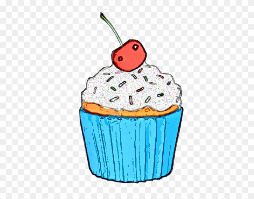 Vanilla Cupcake Clipart Kartun - Pink Cupcake Clipart