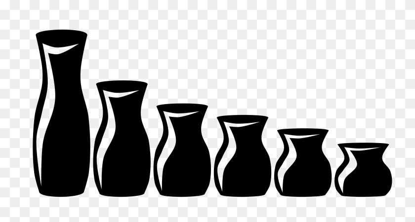 Vase Clip Art Black And White - Vase Clipart Black And White
