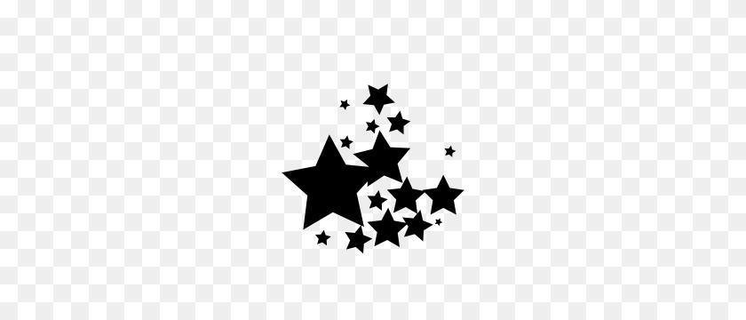 Vector - Black Stars PNG
