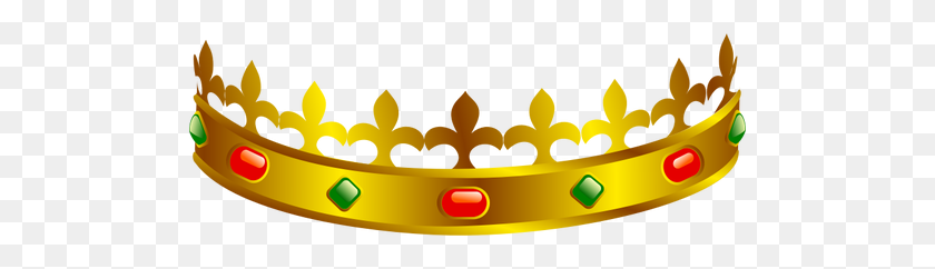 500x182 Vector Clip Art Of A King's Crown - King Crown Clipart