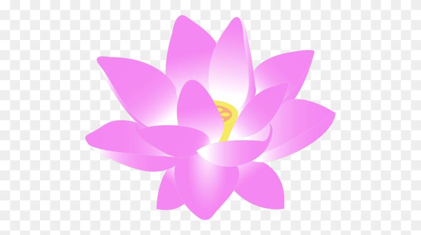 500x409 Vector Clip Art Of Lotus Blossom - Lotus Clipart