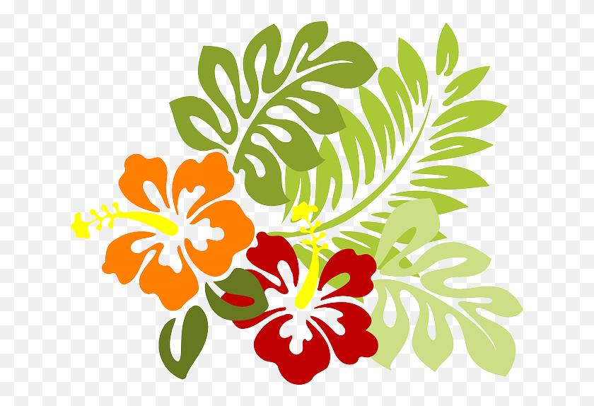 Vectores De Hojas Tropicales - Tropical Flower Clipart