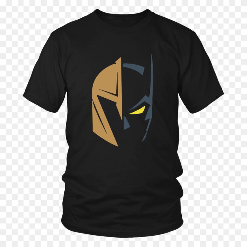 Vegas Golden Knights Logo And Batman The Dark Knight Rises T Shirt - Vegas Golden Knights Logo PNG