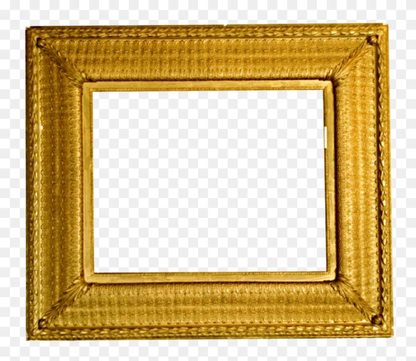 Velvet Gold Frame - Gold Frame PNG