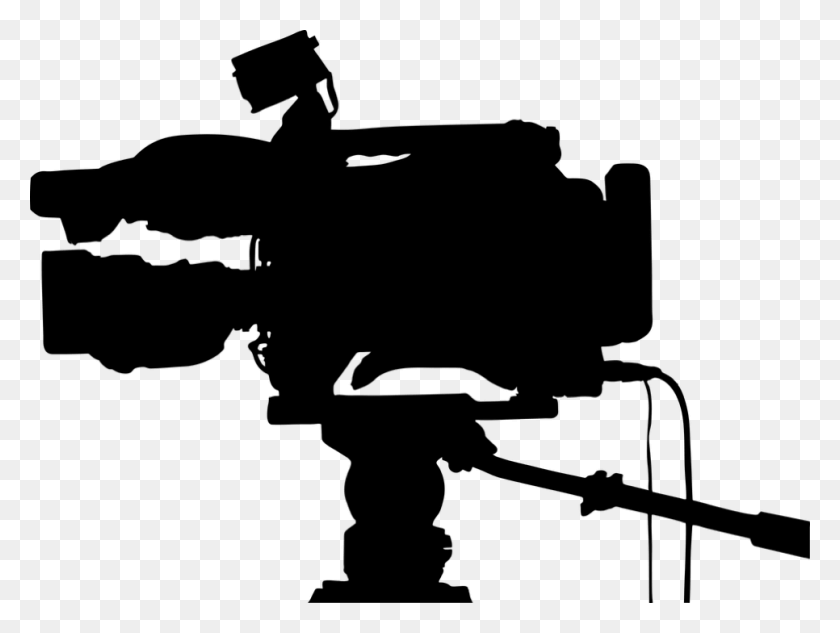 Videographer Silhouette Filmmaking - Camera Silhouette PNG