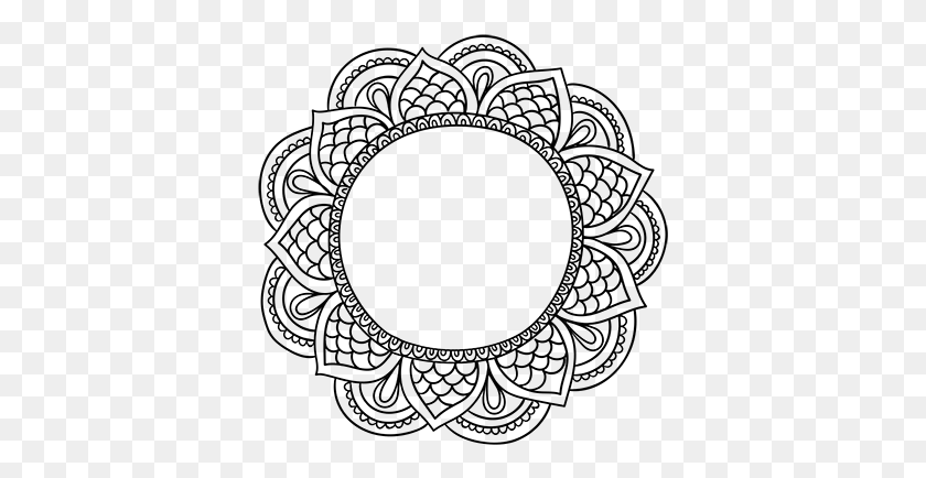 Vinilo Decorativo Marco Mandala Jewelry Motif - Mandala Vector PNG