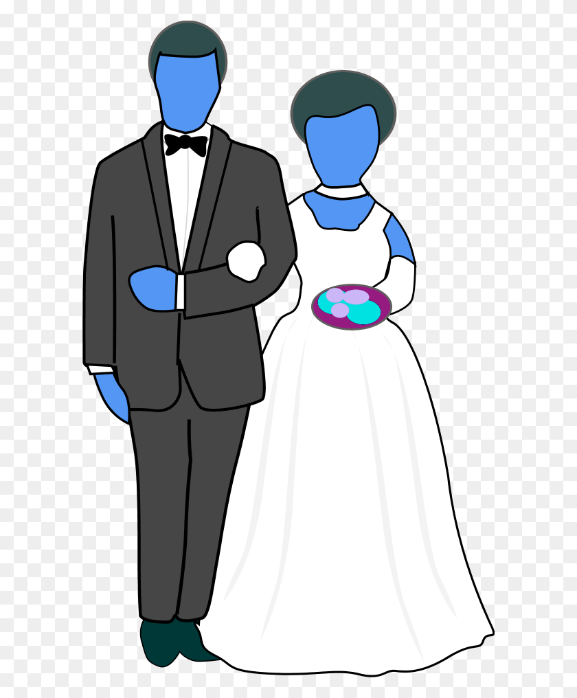 600x956 Vintage Black And White Clip Art - Marriage Clipart