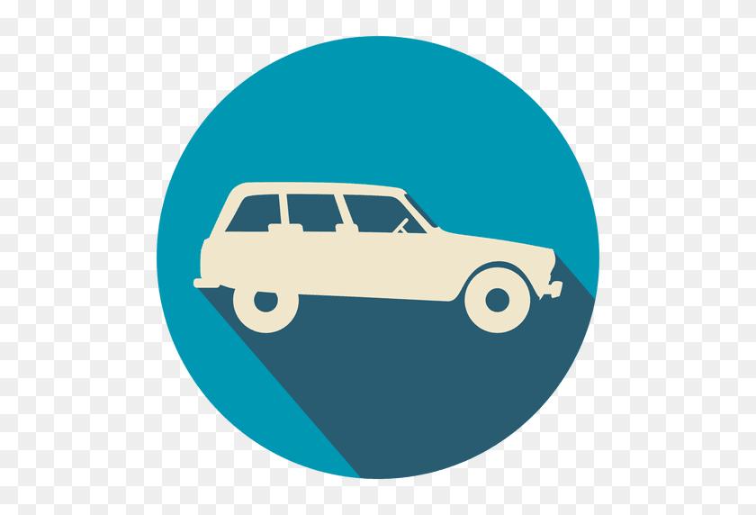 Vintage Car Flat Icon - Vintage Car PNG