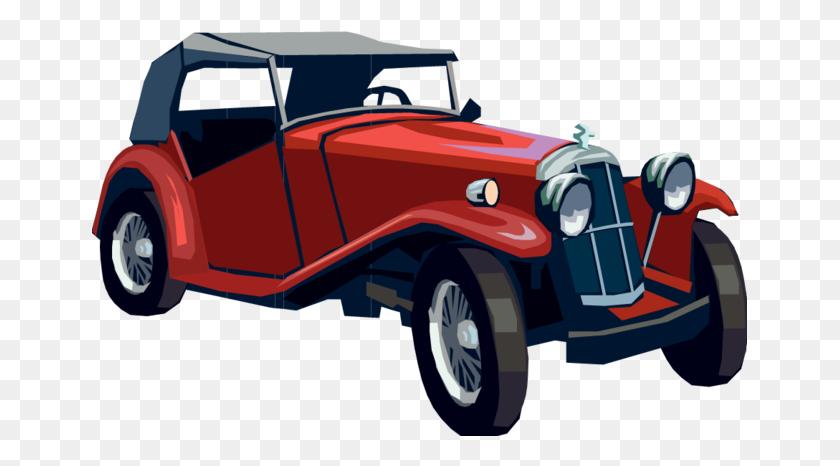 Vintage Cars Transparent Png Pictures - Red Car PNG