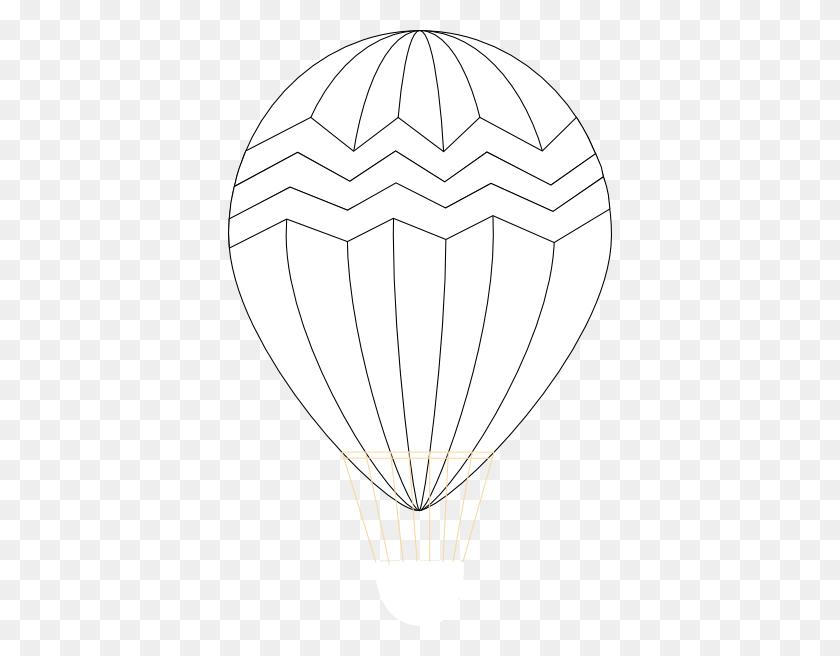 Vintage Hot Air Balloon Coloring - Vintage Hot Air Balloon Clipart