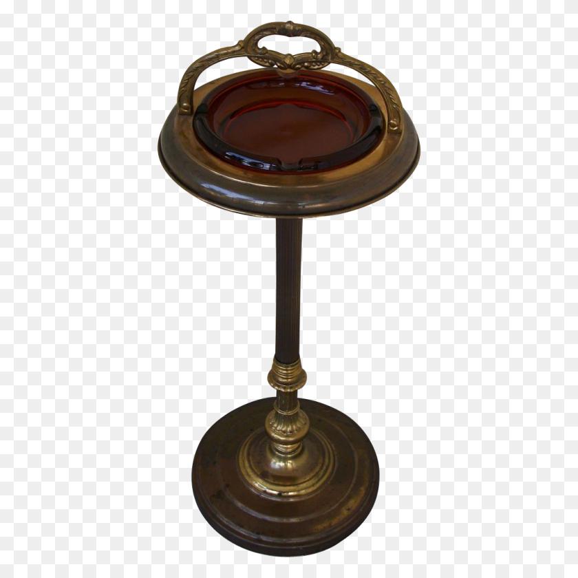 1014x1014 Vintage Pedestal Smoking Stand Ashtray Furniture - Ashtray PNG