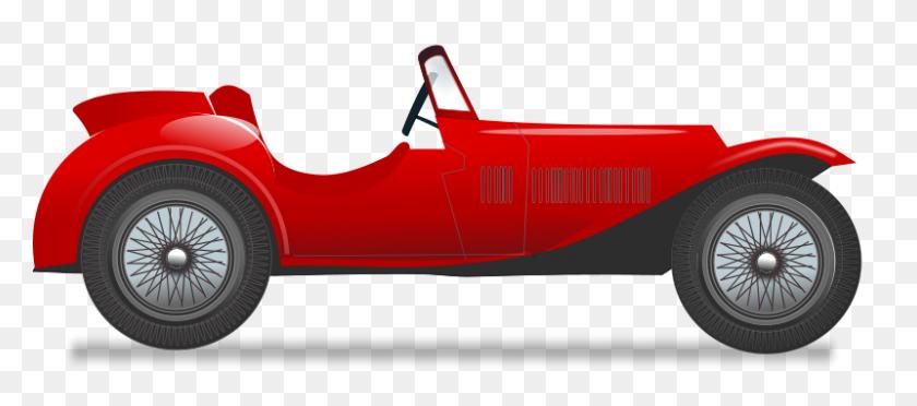 Vintage Race Car Free Vector - Vintage Car PNG