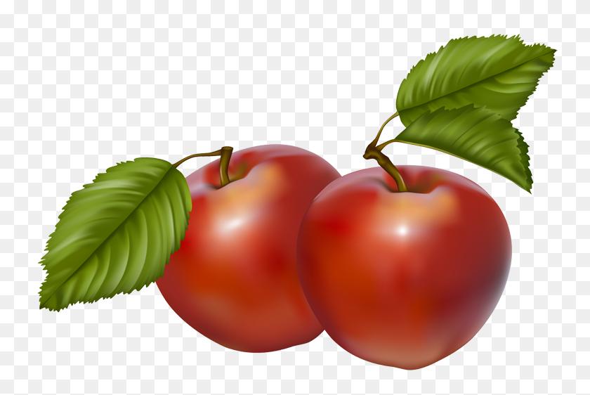 Vintage Vegetable Clip Art Clip Art Of Red Apples Digital Clip - Red Apple Clipart