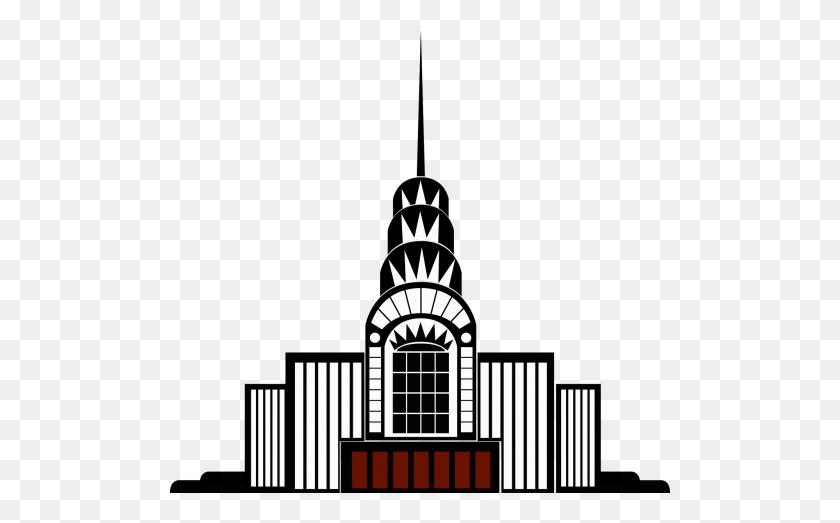 Vintage,clip Art,building,art Deco,high Rise,skyscraper,retro - Skyscraper Clipart