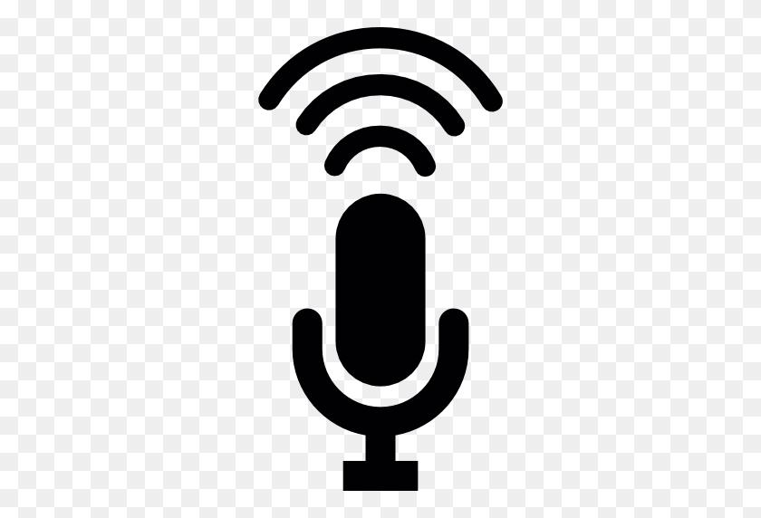 Voice Microphone, Mic, Microphone, Microphone Silhouette - Microphone Silhouette PNG