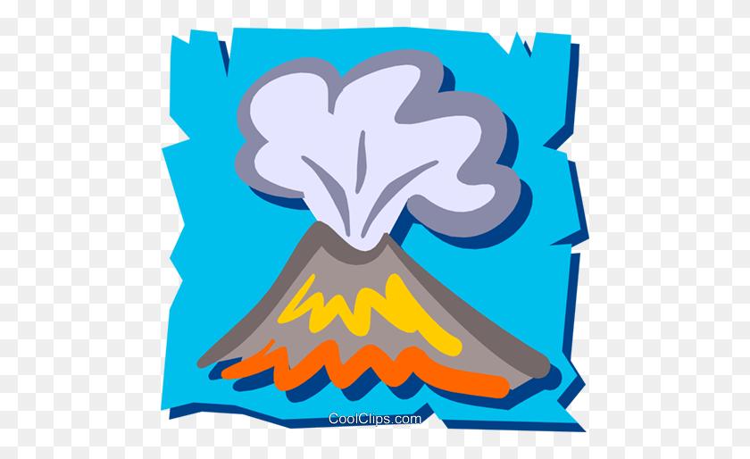 Volcanoes Royalty Free Vector Clip Art Illustration - Disaster Clipart