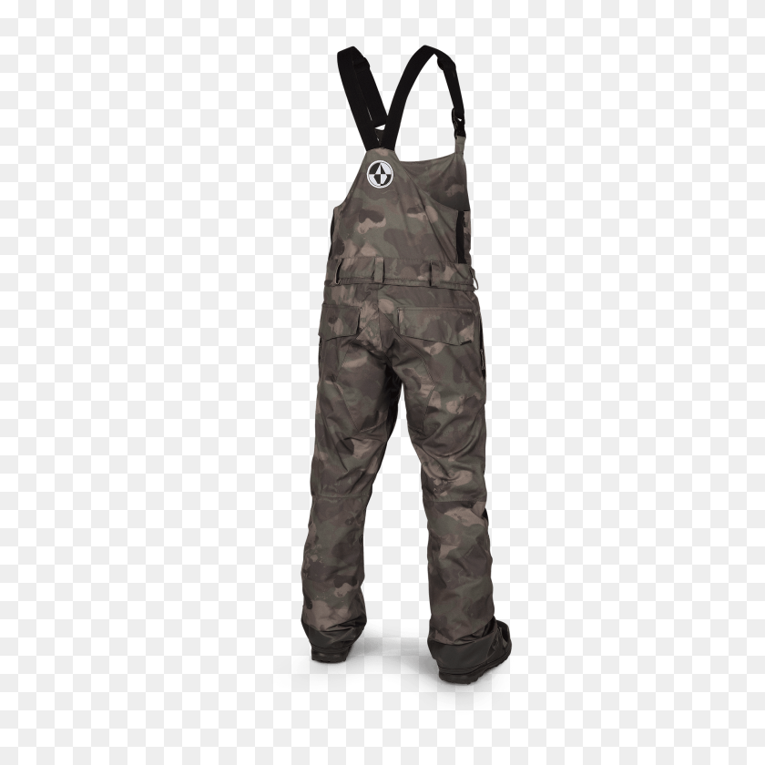Volcom Roan Bib Overall Mens Snow Pant In Camouflage - Camouflage PNG