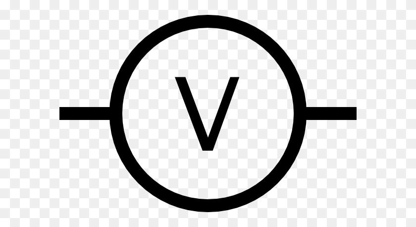 Volt Meter Symbol Clip Art Free Vector - Meter Clipart