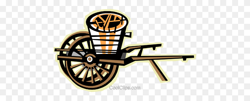 Wagon Royalty Free Vector Clip Art Illustration - Wagon Wheel Clipart