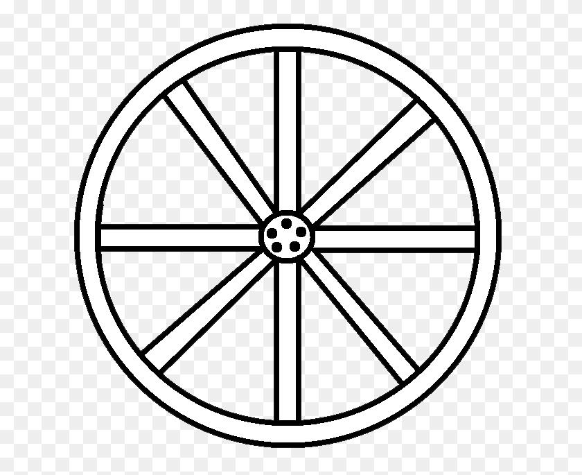 Wagon Wheel Clipart - Wooden Cross Clipart
