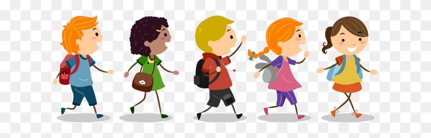 Walk To School Daywalk To School Kc - Kids Walking PNG