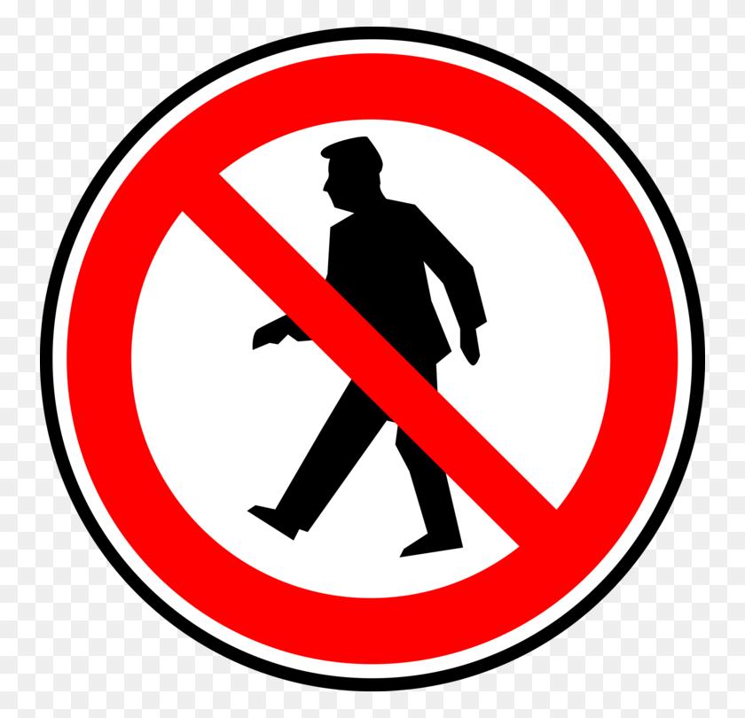 Walking Sign Symbol Pedestrian Crossing - No Running Clipart