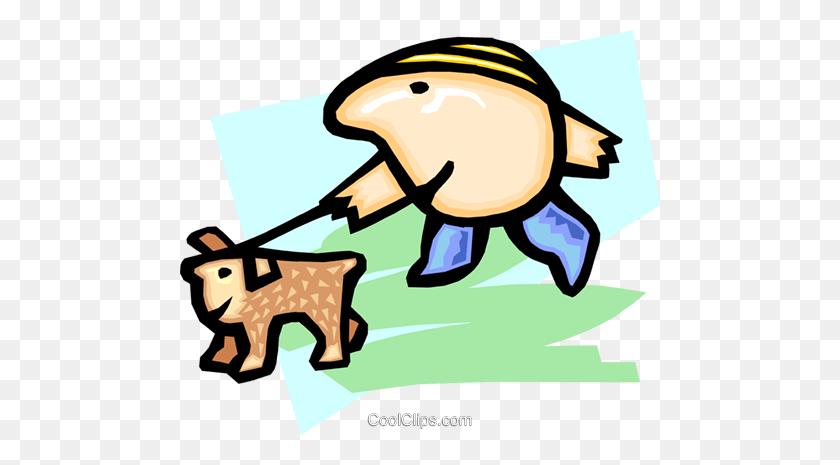 Walking The Dog - Sitting Dog Clipart