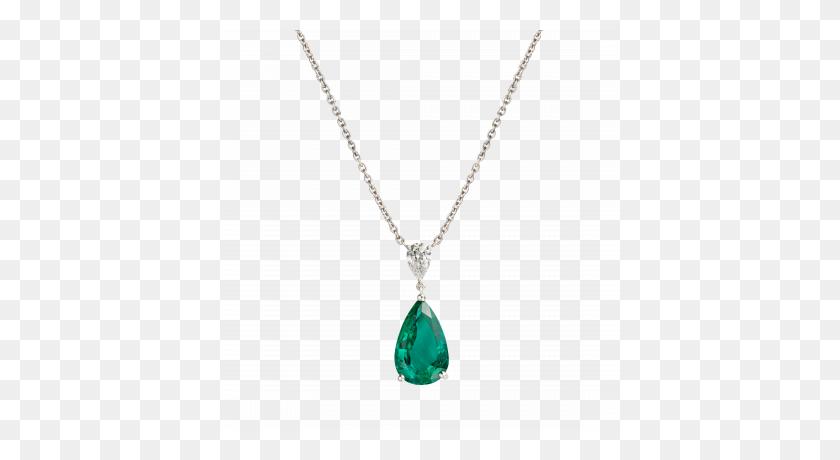 Wallace Pendant Set With A Gem Emerald - Pendant PNG