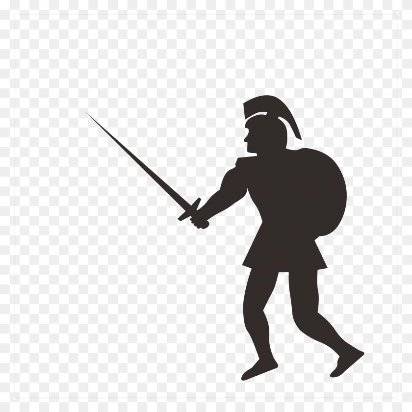 Warrior Clipart Roman Centurion, Warrior Roman Centurion - Roman Soldier Clipart