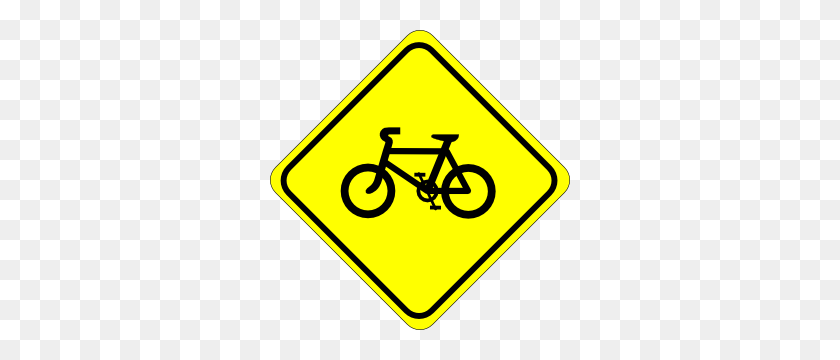 Watch For Bicycles Sign Clip Art Free Vector - Safety Clipart