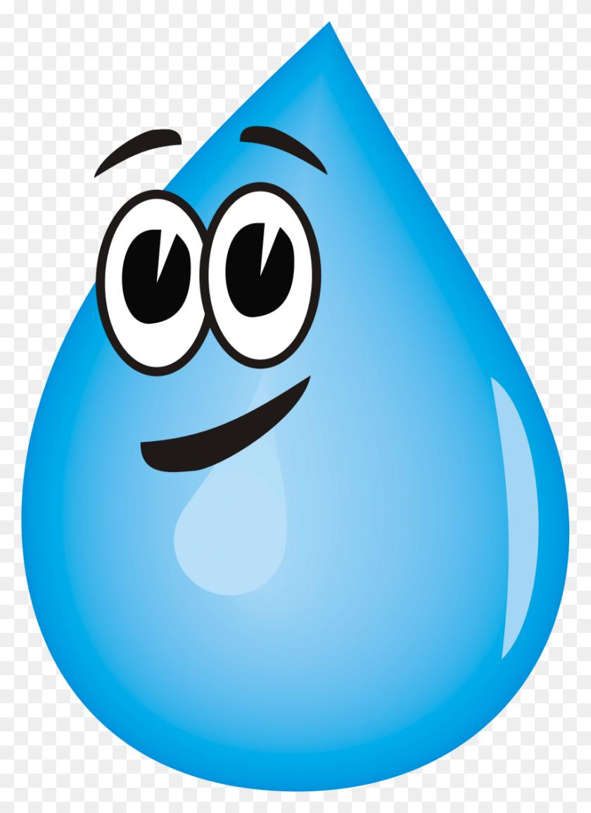 Waterdrop Clipart Water Molecule - Water Fountain Clipart