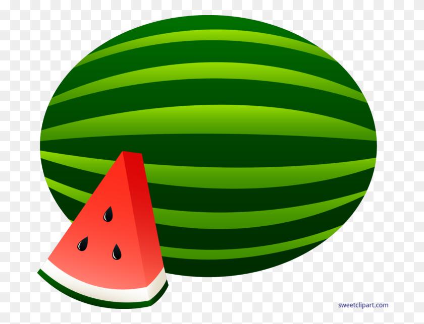 Watermelon Whole Slice Clip Art - Watermelon Clipart Transparent