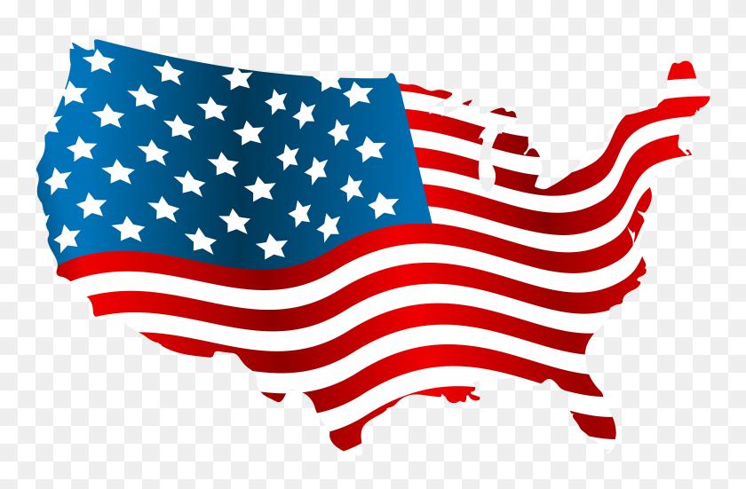 Waving American Flag Clip Art Clip Arts Coloring - Waving American Flag PNG