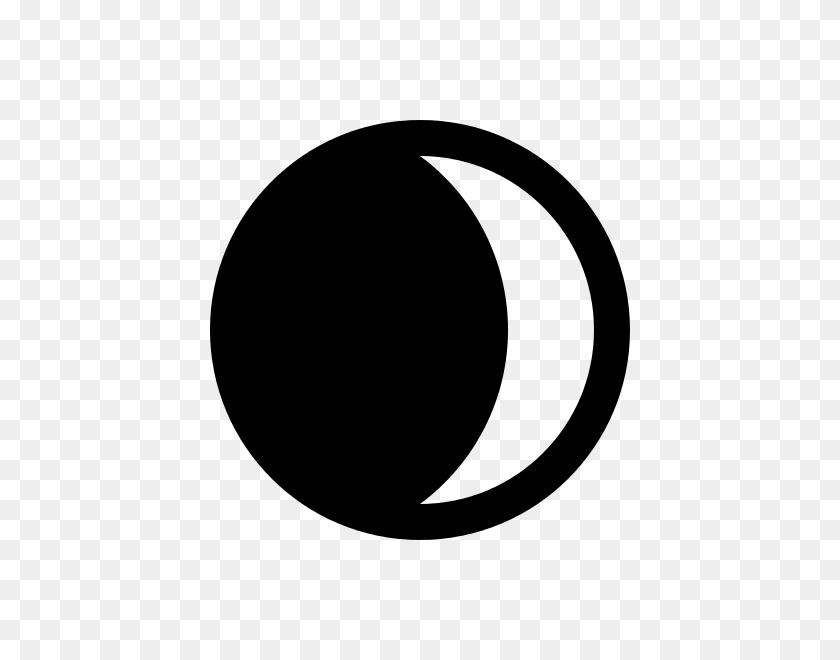 Waxing Crescent Moon Symbol - Crescent Moon Clipart Black