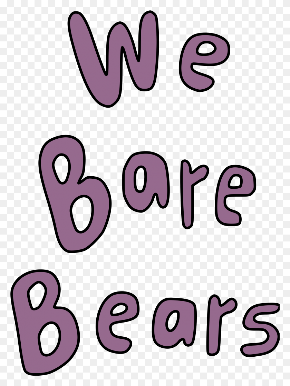 We Bare Bears Logotype - We Bare Bears PNG